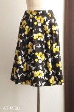 画像2: 細タック&ギャザースカート (2)