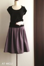 画像4: 細タック&ギャザースカート (4)