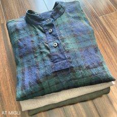 画像10: スタンドカラーシャツ (10)