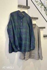 画像2: スタンドカラーシャツ (2)