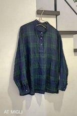 画像1: スタンドカラーシャツ (1)