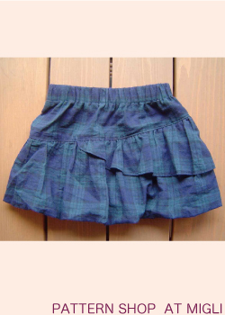 画像1: ミニバルーンスカート (1)